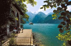 William Tell's Chapel, Lake Lucerne, Switzerland