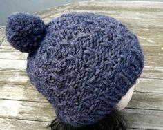 Bommelmützen - Bommelmütze Cara Alpaka dunkelblau - ein Designerstück von DeineWunschmuetze bei DaWanda