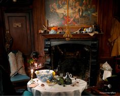 The wonderful Dennis Severs' House in Spitalfields, London, is a museum of sorts that shows the everyday life of a wealthy silk weaver and is set up to look as if the inhabitants just left the room. Well worth a visit!!(km)