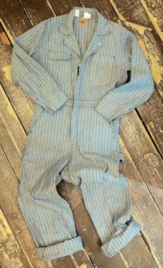 Men's Denim Coveralls / Deadstock Workwear / by popinjayvintage