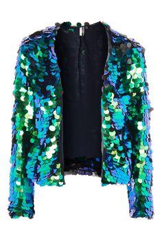 Circle Sequin Embellished Jacket