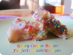 Gooey Cookie Butter Funfetti Mash-Up Bars (7.29.12) || Wallflour Girl: When unicorns, sprinkles, and double rainbows collide...what else can you expect but gooey funfetti heaven?