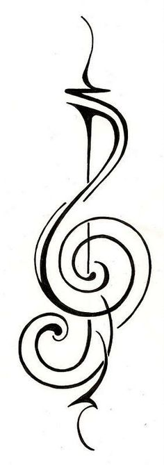 simple music tattoo design