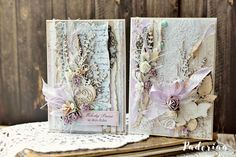 Recently I create mostly cards - I felt in love with laces and layers. This time I used a collection of Lavender Mist from Scrapiniec. I wanted to show the contrast and a wide range of  chipboard's possibilities of this collection -  I made a childish card and a wedding one.