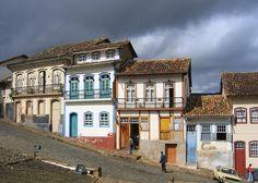 Casario em ladeira de Ouro Preto # Minas Gerais