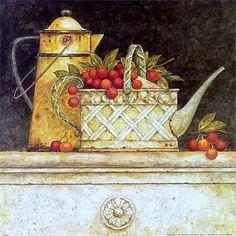 regador com frutas