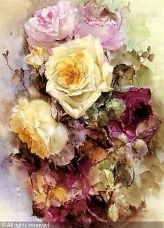 BISCHOFF Franz Arthur,Roses,Butterfield