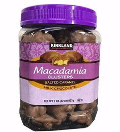 Kirkland Signature Macadamia Clusters SALTED CARAMEL Milk Choc Sealed No Lid  #KirklandSignature