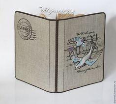 """Купить Вышитая обложка для книги """"Ласточкина почта"""" - обложка, оригинальная обложка, дизайнерская обложка"""