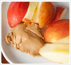 apples and peanut butter, an old standby