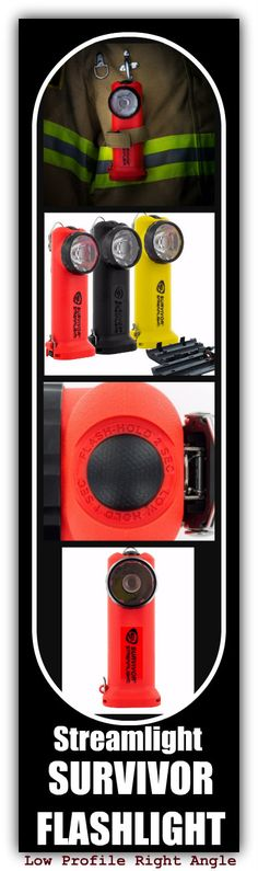 Newly redesigned.... Streamlight Low Profile Right Angle Survivor Flashlight! #TheFireStore #FirefighterTrusted