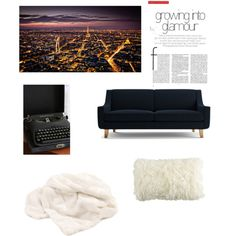 Living room by elizabeth-b-a on Polyvore featuring polyvore interior interiors interior design home home decor interior decorating Joybird Furniture Dot & Bo living room