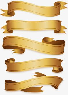 Exquisite gold ribbon PNG and Vector Ribbon Clipart, Ribbon Png, Ribbon Banner, Page Borders Design, Border Design, Scrapbook Background, 3d Cnc, Certificate Design, Custom Paint Jobs
