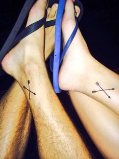Matching Crossed Arrows Tattoos   Best Tattoo Designs   We Heart It