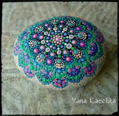 Check out this item in my Etsy shop https://www.etsy.com/ca/listing/474108236/medium-mandala-stone-peacock-painted
