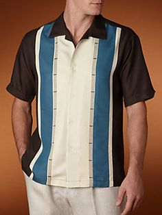 Cubavera's Guayabera Shirts, because I look damn good in them Mens Vintage Shirts, Vintage Men, Camisa Vintage, Chinese Shirt, Guayabera Shirt, Summertime Outfits, Bowling Shirts, Well Dressed Men, Gentleman Style