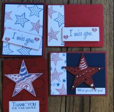 Cards for OWH with Michasel Strong Stamps