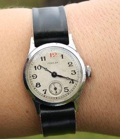 Mens watch, ladies watch, unisex watch RARE Old soviet POBEDA watch from 1951. $44.00, via Etsy.