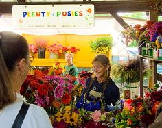 plenty of posies - this is where I want my flowers from...they are one of my favorite vendors at the Ithaca Farmers market. The most amazing dahlias & zinnias. I used to get fresh seasonal bouquets from this booth. It was like an arm full of joy.