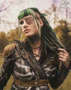 Post Apocalypse TRIBE RIOT LivingDreadDoll #Wasteland #Post #Apocalyptic #apocalypse #Tribal #Warrior #raider #warriors #wanderer #Mad #Max #female #girl #gear #spikes #skull #rust #chain #armor #Anja #Livingdreaddoll #fashion #dystopian #scifi #larp #t