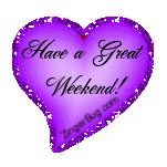 Purple Glitter Graphics | Glitter Graphic Comment: Have a Great Weekend Purple Heart Glitter ...