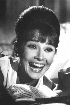 """Audrey Hepburn on the set of """"Paris When It Sizzles"""" (1962)"""