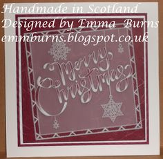 Parchment Card Designs, Handmade in Scotland, Designed by Emma Burns. Claritystamp ltd, Groovi Parchment Embossing Plates Christmas 2016, All Things Christmas, Christmas Cards, Xmas, Christmas Ideas, Hobbies And Crafts, Crafts To Make, Clarity Card, Parchment Cards
