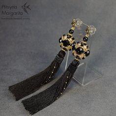Beaded earrings tassel earrings earrings with by RitaLovelyBeads