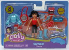 Polly Pocket Quik Clik Fashions Car Cool Friends - Crissy by Mattel. $7.99. One Polly Pocket doll, Crissy, ready for a fun outing w/ cool accessories.  (8 pieces in total).  Works w/ other dolls, clothes, sets and accessories.  An inexpensive addition for any Polly Pocket collection!