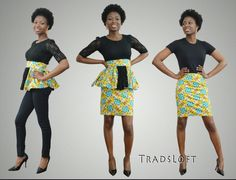 Left, center or right, how will you wear this African Print fabric?