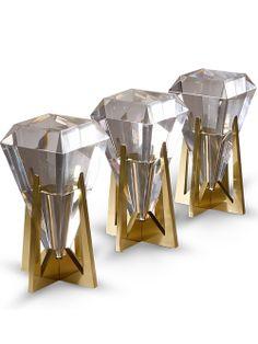Prism Vase by William Haines // diamond brass vase