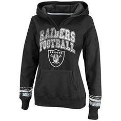 Oakland Raiders Black Women's Pre-Season Favorite II Hooded Sweatshirt $54.99 http://www.fansedge.com/Oakland-Raiders-Black-Womens-Pre-Season-Favorite-II-Hooded-Sweatshirt-_86455132_PD.html?social=pinterest_pfid22-27505
