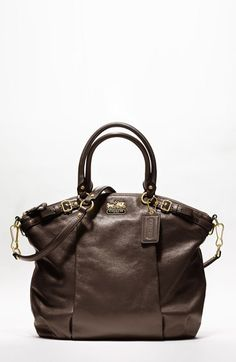 Free shipping and returns on COACH MADISON LEATHER LINDSEY SATCHEL at Nordstrom.com. Crafted in sumptuous leather, this timeless silhouette is extremely spacious, with a zippered pocket cleverly hidden in the front pleat detail—the perfect place to stash a cell phone or anything else that needs to be readily at hand.