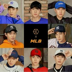 [MLB x EXO] with Yixing on his rightful place Kpop Exo, Exo Ot9, Baekhyun Chanyeol, Park Chanyeol, Kai, Chen, Exo 2017, Luhan And Kris, Exo Album