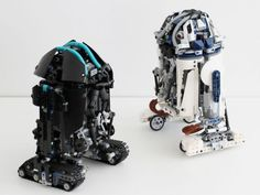 Star Wars inspired Lego Astromechs Droid robot is a nifty mover