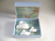 Avon Swan Lake vintage soap set 1980s boxed by VintageImageBox