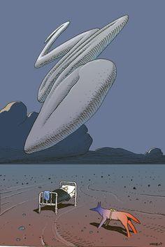 La nave de los locos: Autorretrato de MOEBIUS