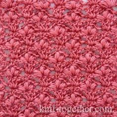 Crochet Stitch Pattern Cherry Blossoms - detailed description and crochet chart. It's a very delicate and refined crochet stitch. This pattern is good for crochet blouses, skirts and dresses for girls. Crochet Chart, Crochet Stitches Patterns, Knitting Stitches, Stitch Patterns, Afghan Patterns, Blouse Patterns, Free Knitting, Crotchet Stitches, Different Crochet Stitches