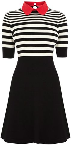 Stripe polo knit dress women office wear elegant KP205 on Aliexpress.com (would be super cute with a High bun and the right accessories)