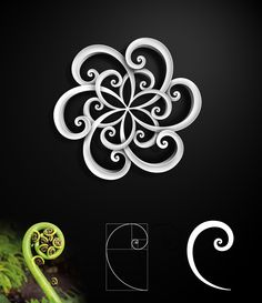 "Recently I made logo inspired by beautyfull shape of fern fronds. When I saw photos of fern sprouting, I realized that this little shape reflects Fibonacci's spiral with golden mean proportions.     I designed symmetrical logo for branding company called CAPRADI which reflects both, fern frond and Fibonacci' golden proportions in simplified form. As little bonus there is ""Flower of life"" symbol in the middle :)"