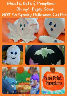 Capri + 3: Ghosts, Bats & Pumpkins...Oh my! #HalloweenCrafts #kbnmoms