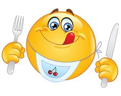 Photo : Ready to Eat! ➙ http://www.symbols-n-emoticons.com/2012/12/smiley-ready-to-eat.html