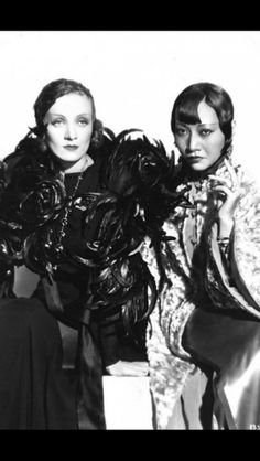ICONS:  Dietrich and Wong Marlene Dietrich, Anna May, Famous Couples, Hollywood Actresses, Classic Hollywood, Jon Snow, Movie Tv, Two By Two, How To Memorize Things