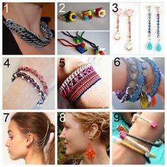 9 DIY jewelry tutorials !!!