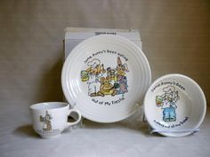 FIESTA® SOME BUNNY'S 3-Piece CHILD'S SET ~ PLATE, BOWL and CUP ~ Homer Laughlin China | eBay