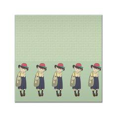 Azulejo Little School Girl