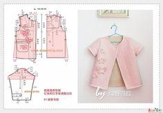 ВЫКРОЙКИ ДЛЯ ДЕТЕЙ | 173 photos Baby Dress Patterns, Sewing Patterns For Kids, Clothing Patterns, Sewing Baby Clothes, Baby Sewing, Doll Clothes, Dress Anak, Make Your Own Clothes, Toddler Dress