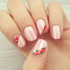 rayas blancas rosas flowers