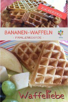 Banana waffles without sugar - Kinderessen - waffeln