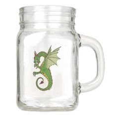 Wyvern Mason Jar - home decor design art diy cyo custom